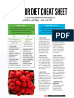 8 Hour Diet Cheat Sheet