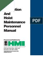Hoist Inspection Manual