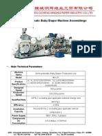 Semi-Automatic Baby Diaper Machine 2011-07-09