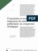 TRADUCCION DEL TEXTO PUBLICITARIO en francés