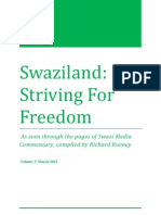 Swaziland Striving for Freedom Vol 3 Mar 2013