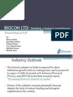 Biocon Vikash presentation
