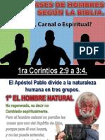 TRES CLASES DE HOMBRES SEGÚN LA BIBLIA