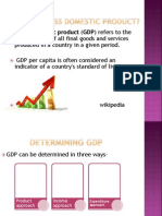 Trends in Gross Domestic Product