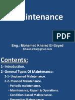 Maintenance Types