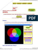 Colour Theory - Newton's Color Wheel Software