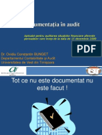 ISA 230 Documentatia in Audit