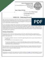 Marketing ResearchInterpretation of Findings & Report Writing