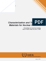 Iaea Characterization and Testing of Materials for Nuclear Reactors