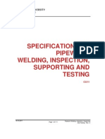 Pipework Specification