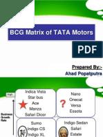 BCG Matrix of TATA Motors