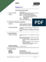 Promatect-H Safety Data Sheet