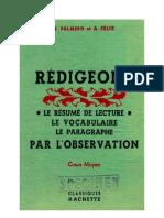 Langue Française Rédigeons 02 CM1 CM2 Palmero Felix