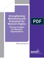 AWID_Monitoring&Evaluation for Women's Rights_Insights for Women's Organisations