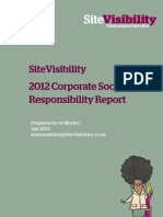 SiteVisibility 2012 CSR Report