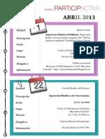 Agenda Participactiva Mes de Abril 2013