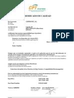 Certificado Pararrayos PDC CIRPROTEC