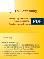 Downsizing to HR Presented by SULAMAN SADIQ