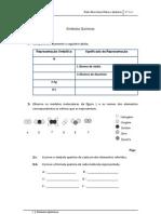 FQ 8 - símbolos químicos - ficha exercicios