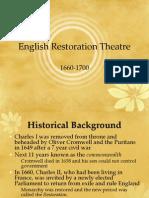 English Restoration Theatre