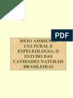 Espeleologia e Meio Ambiente Cultural - o Estudo Das Cavidades Naturais Brasileiras