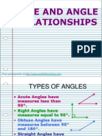 Angleline and Angle Relationships