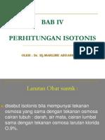 Bab IV Perhitungan Isotonis
