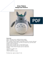 Totoro - Grey Totoro Amigurumi Pattern