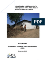 Feasibility Study Into the Establishment of a Goat Farmers Co-Operative in the Jobat Block of Jhabua District, Madhya Pradesh
