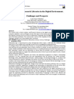 Academic and Research Libraries in the Digital Environment. Challenges and Prospects