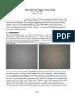 Impact of Lens Chief Ray Angle on Image Quality