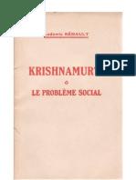 Krishnamurti et le problème social, par Ludowic Réhault