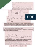 resumen de reacciones de obtención o sintesis de alquenos