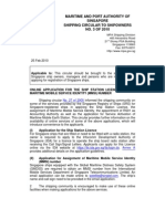 SHIP STATION LICENCE AND THE MARITIME MOBILE SERVICE IDENTITY (MMSI) NUMBER