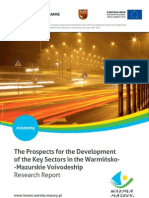 The Prospects for the Development of the Key Sectors in the Warmińsko-Mazurskie Voivodeship Research Report