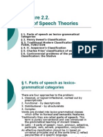 Lecture 2.2. Part-Of-Speech Theories