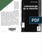 Antropologia de La Memoria Candau