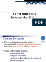 Briefing FYP 2 May 2011 - Chemical
