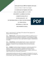 Código de procedimiento penal 24 marzo 2009 de la República del Ecuador