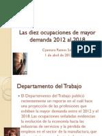 Las Diez Ocupaciones de Mayor Demanda 2012 Al