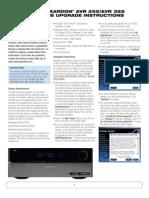 Software Upgrade Instructions - AVR 255, AVR 355 (English EU)