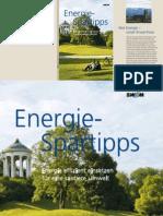 Energiespar Tipps