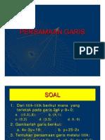 Matematika Ekonomi PERSAMAAN GARIS by Indra Maipita