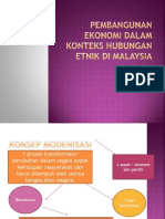 Pembangunan Ekonomi Dalam Konteks Hubungan Etnik Di Malaysia 2