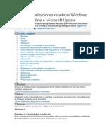 Error Actualizaciones Repetidas Windows Update o Microsoft Update
