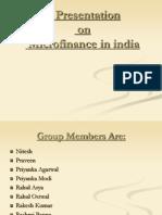 A Presentation on Micro Finance 1