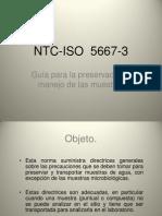 NTC-ISO  5667-3