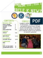 "UCSD Circle K Newsletter - ""April"" 2013"