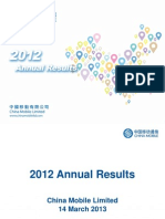 2012 Financial Summary Presentation