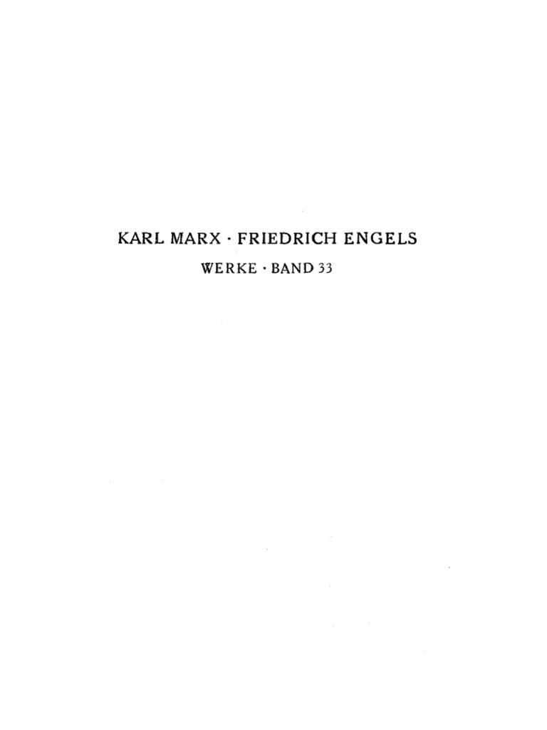 Marx - Engels - Werke 33